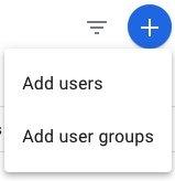 Google Analytics Add User Button